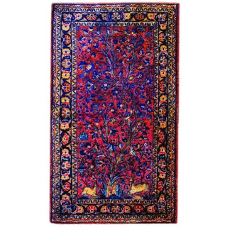 Early 20th Century Tree-of-life Kashan Prayer Rug