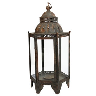 Metal & Glass Small Lantern