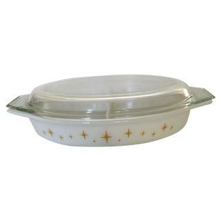 Midcentury Starburst Pyrex Casserole Covered Dish