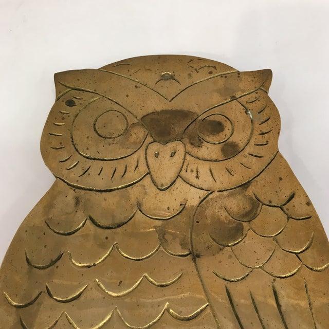Vintage Brass Owl Trivet - Image 4 of 8