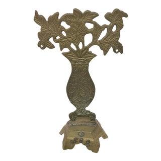 Antique Brass Flower Pot Statue