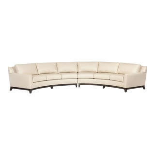 Elite Leather Curved Sectional