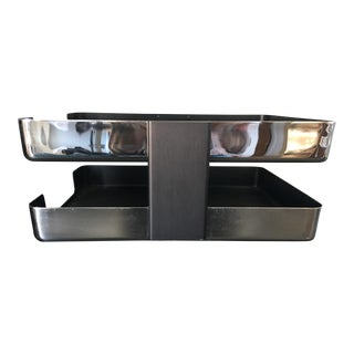 McDonald Mid-Century Chrome Two Tier Letter Tray