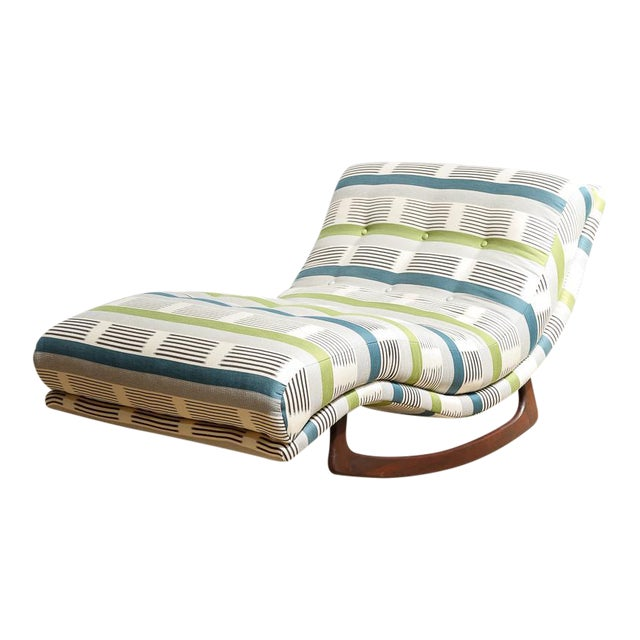 "Adrian Pearsall ""Wave"" Chaise Rocker - Image 1 of 11"