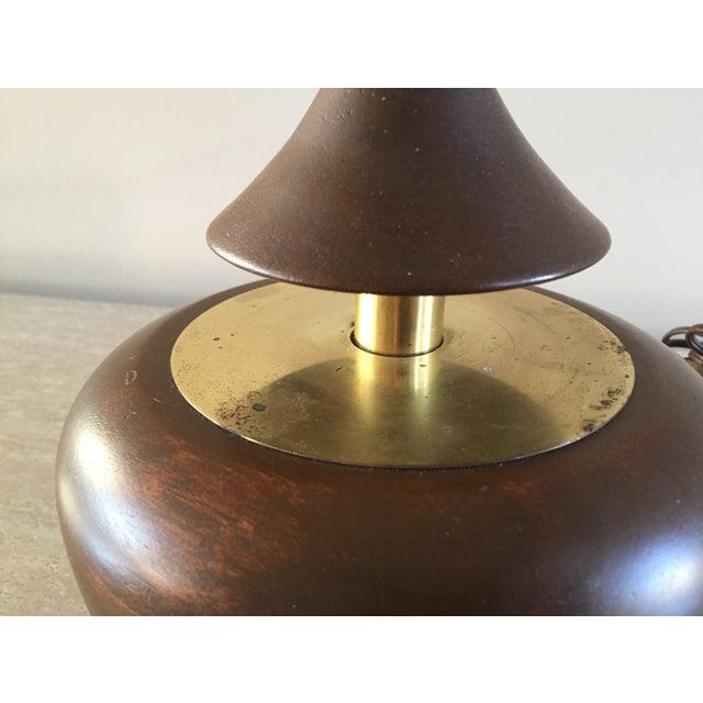 Vintage Laurel Walnut Teardrop Table Lamp - Image 4 of 7