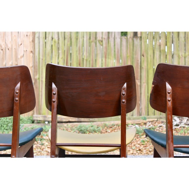 Image of Mid-Century Modern Clam Shell Chairs - Set of 3