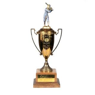 Vintage Bronze Baseball Trophy C. 1952