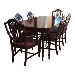 Sheraton Mahogany Dining Table and Chairs