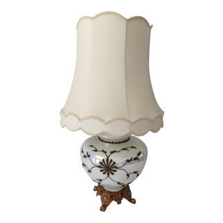Hollywood Regency Opalescent Bulbous Table Lamp