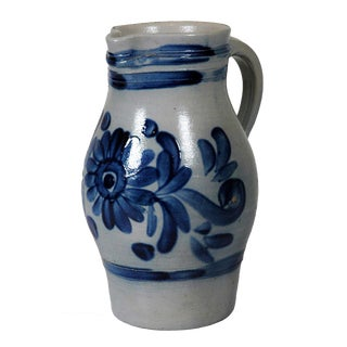 French Cobalt Blue Pitcher