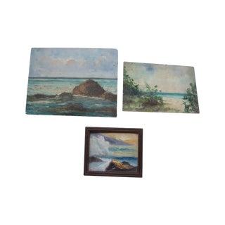 Cuban Landscapes Oils on Board 70s - Set of 3