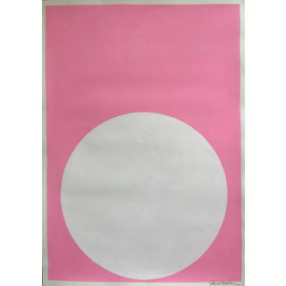 Blush White Dot on Palm Beach Pink Painting