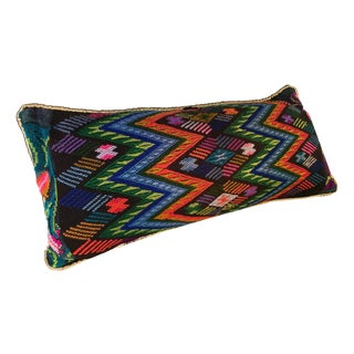 Multicolored Handmade Needlepoint Geometric Pillow Cover