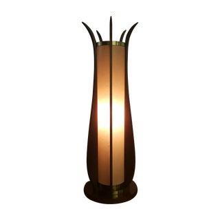 Adrian Pearsal Style Teak & Brass Modeline Lamp