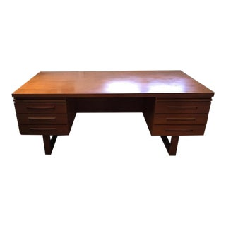 Danish Modern Teak Partner's Desk