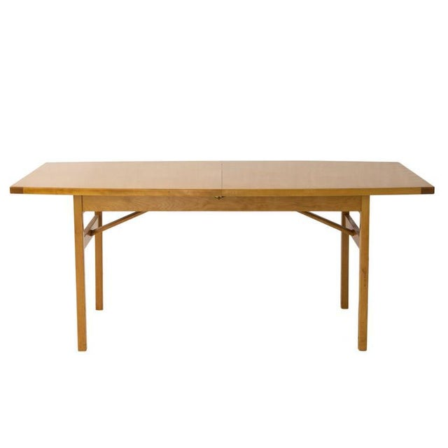 Jens Risom Dining Table with Leaves - Image 2 of 6