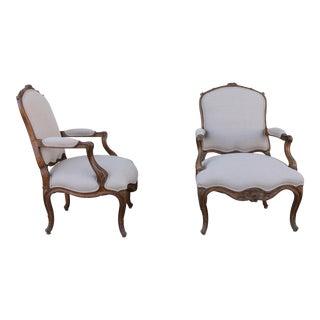 Italian Bergere Arm Chairs - A Pair