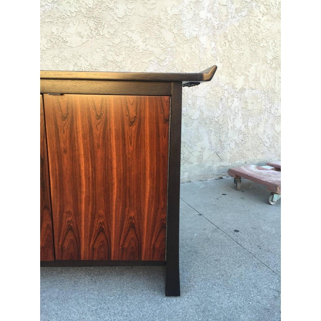Image of Rosewood Chinoiserie Long Credenza