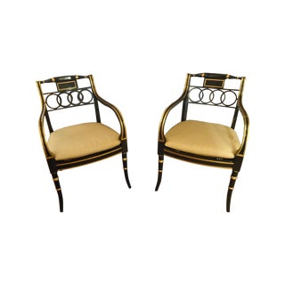 Regency Style Armchairs by Baker - Pair