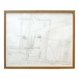 Pen & Ink One of Eleven Drawings by Atila (Biro)