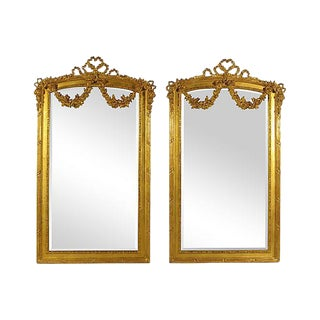 Neoclassical Gilt Mirrors - A Pair