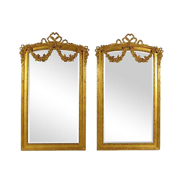 Neoclassical Gilt Mirrors - A Pair - Image 1 of 6