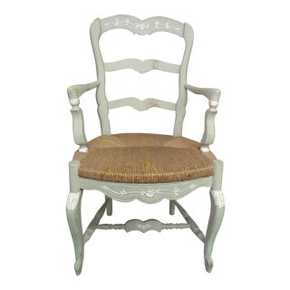 Vintage French Country Painted Armchair