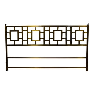 Hollywood Regency Style Brass King Headboard