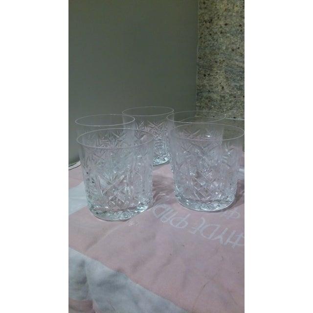 Vintage Etched Rocks Glasses - Set of 4 - Image 10 of 11