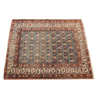 "Antique Persian Square Rug - 3'5"" x 4'2"""