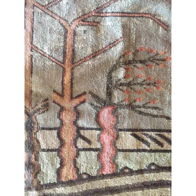 Mid-Century Turkish Landscape Motiff Rug - 5′2″ × 8′8″ - Image 7 of 10