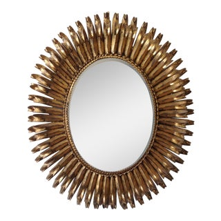 Italian Gilt Hollywood Regency Oval Mirror