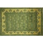 "Image of Green Chobi Gabbeh Oriental Rug - 6'1"" x 9'3"""