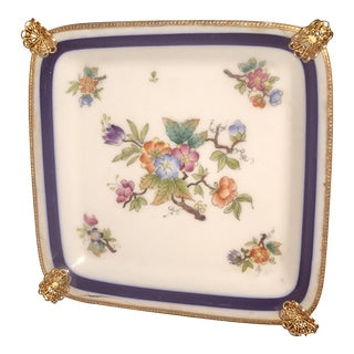 Limoges Dish With Gilt Mounts