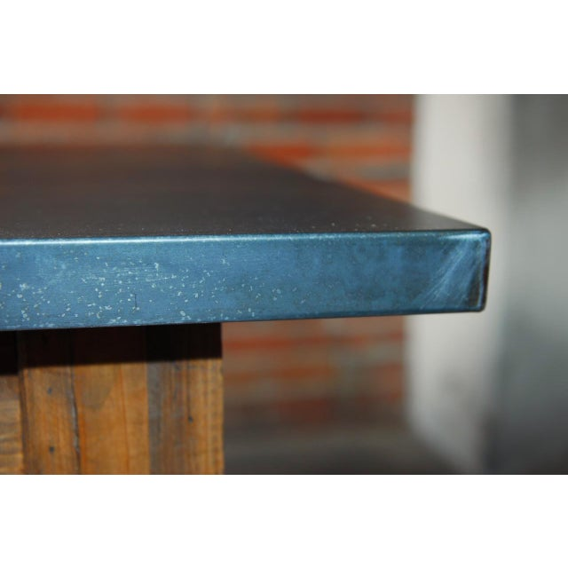 Zinc Topped Farm Table - Image 8 of 11