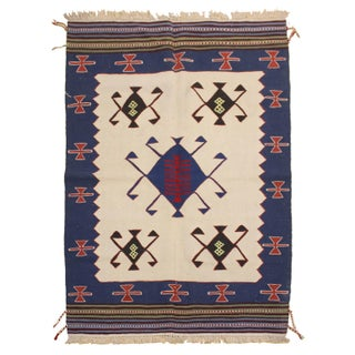 "Turkish Kilim Rug - 6'4"" x 4'"