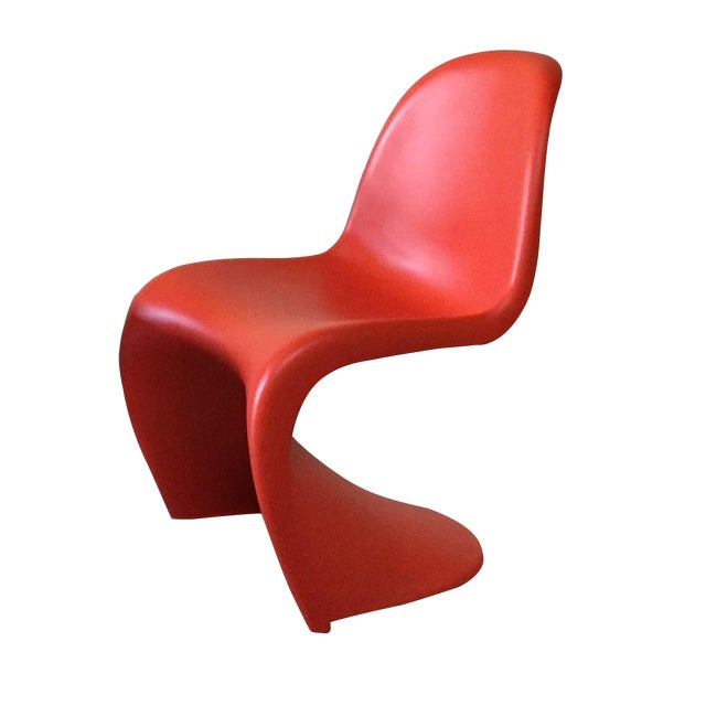 Image of Vitra Red 'Panton' Dining Chair