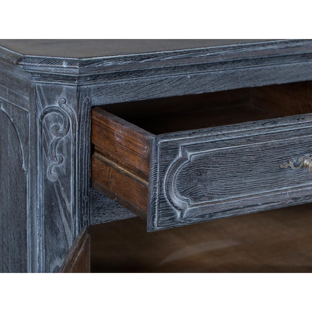 Antique French Régence Style Black Limed Oak Buffet circa 1770 - Image 5 of 11