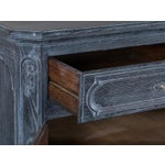 Image of Antique French Régence Style Black Limed Oak Buffet circa 1770