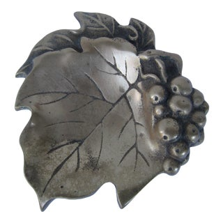 Vintage Brass Grape Leaf Catchall