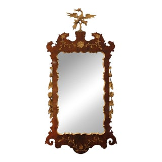 George II Style Walnut & Parcel Gilt Mirror