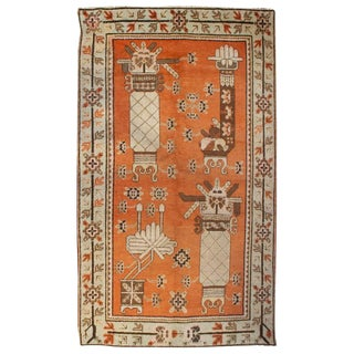 Early 20th Century Pictorial Khotan Rug