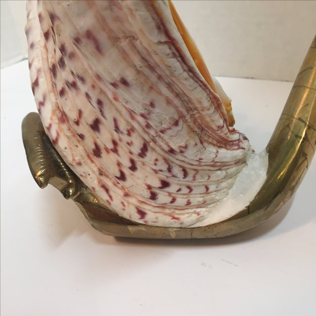 Vintage 1970 Brass Swan And Sea Shell - Image 9 of 9