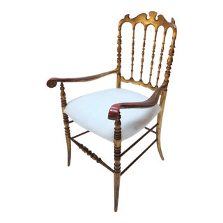 Pair of 1950s Gilded Chiavari Chairs