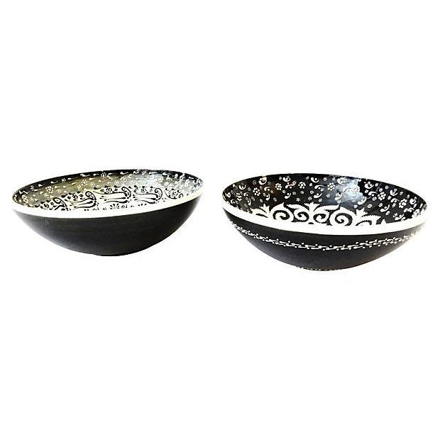 Ottoman Turkish Bowls - A Pair - Image 2 of 6