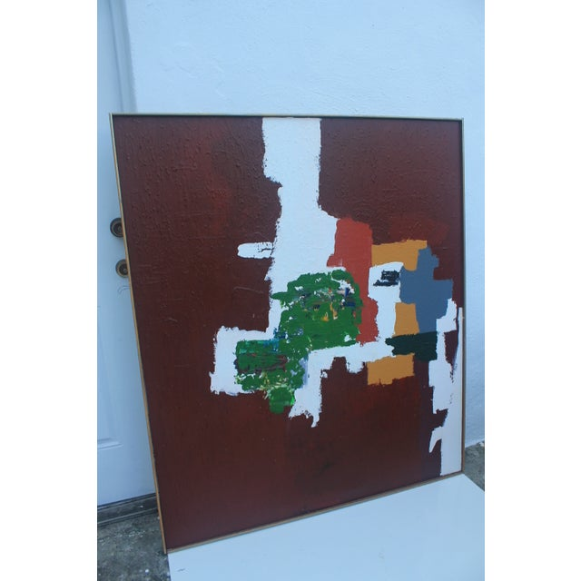 Mid-Century Modern Abstrac Expressionist Painting - Image 9 of 11