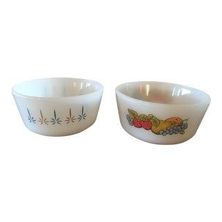 Vintage Fire King Custard Bowls - a Pair