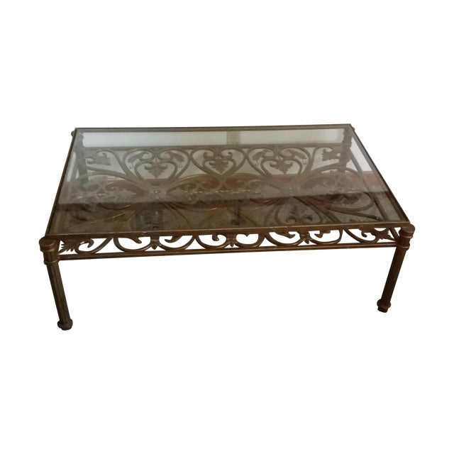 Drexel Heritage Florentine Gold Cocktail Table Chairish