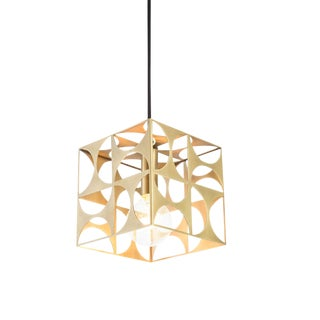 Geometric Brass Dee Pendant Light
