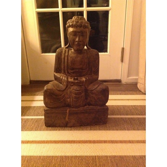 Antique Wooden Buddha - Image 2 of 3